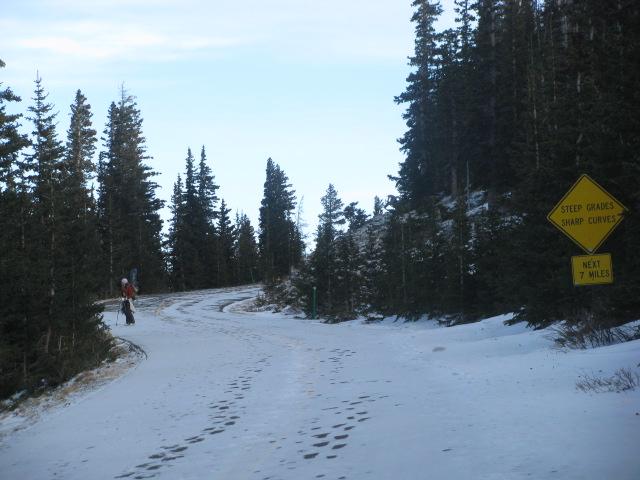 Mt. Evans road